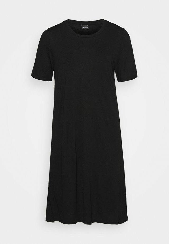 LILJA T SHIRT DRESS - Jerseyjurk - black