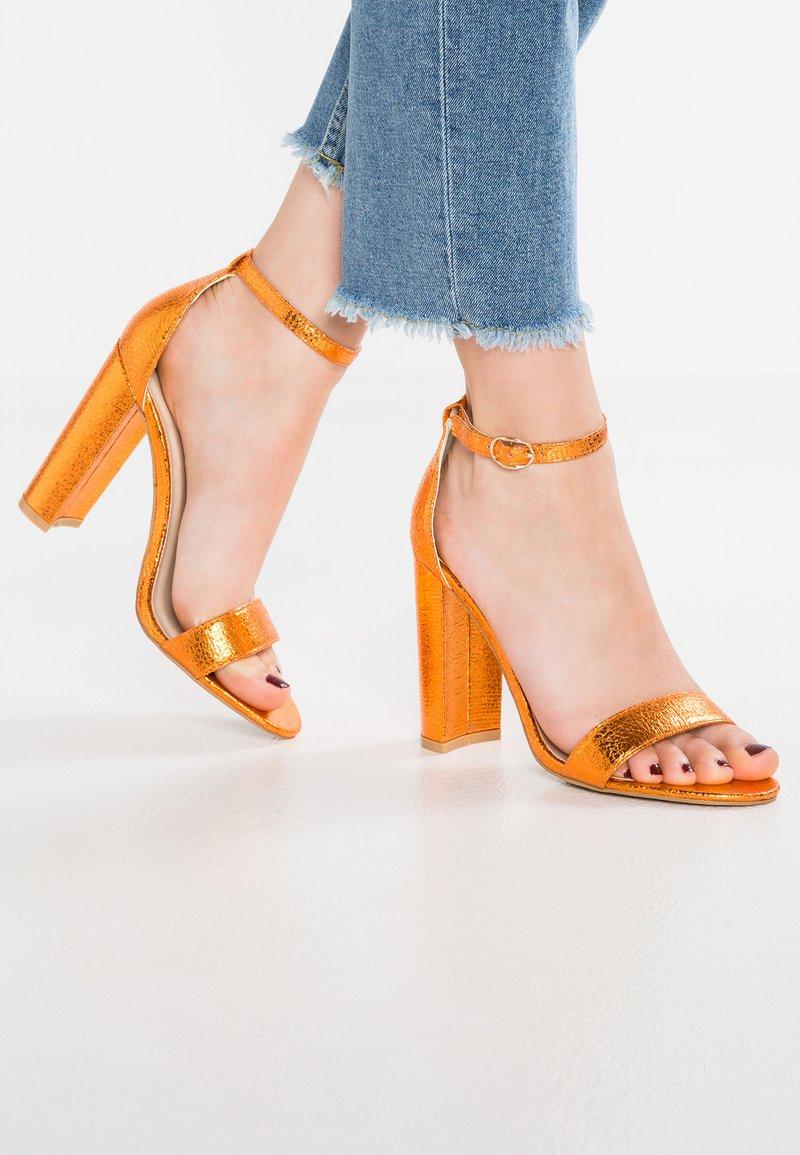 Glamorous - Sandalen met hoge hak - orange metallic