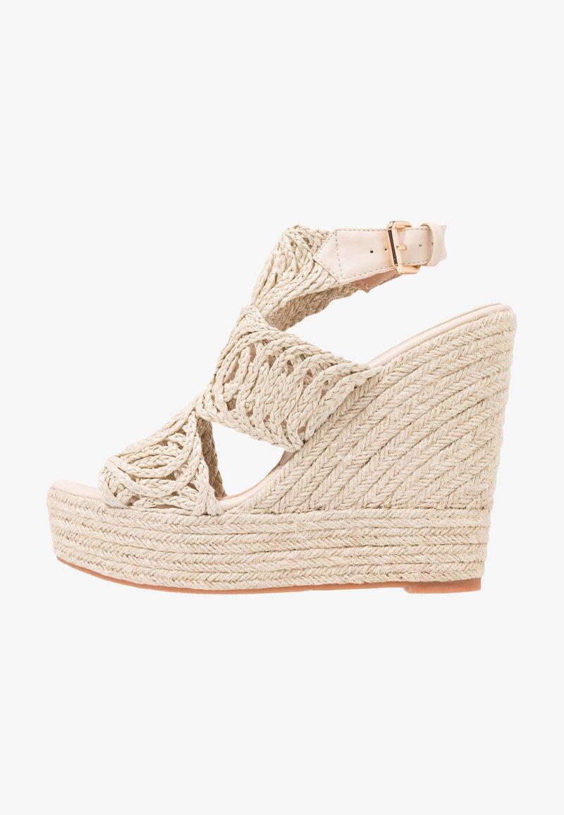 Glamorous - Sandály na vysokém podpatku - natural
