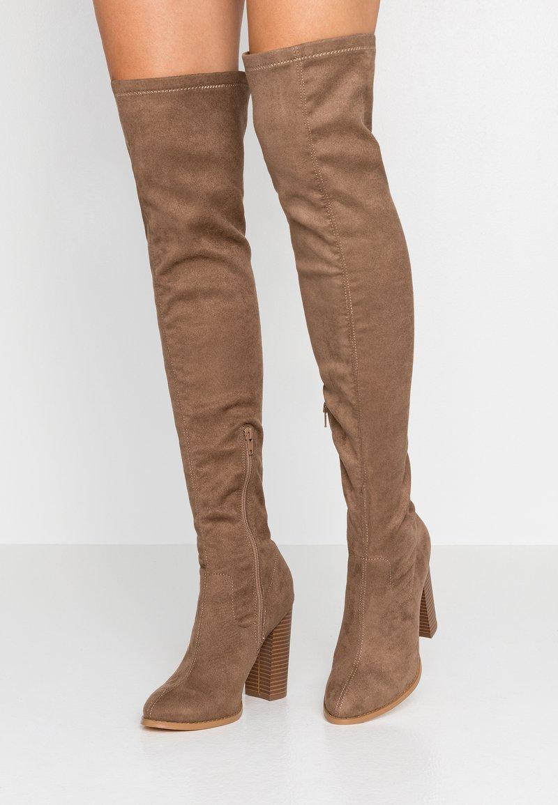 Glamorous - High heeled boots - taupe