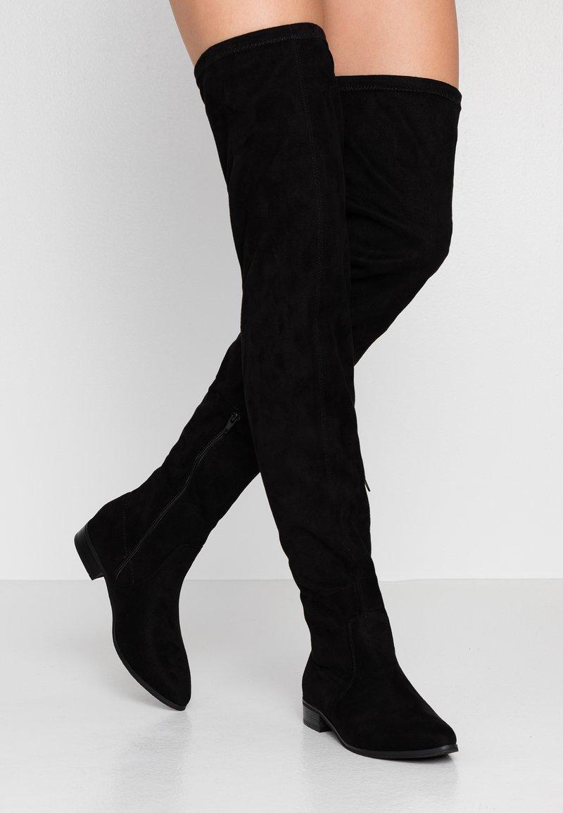 Glamorous - Botas mosqueteras - black
