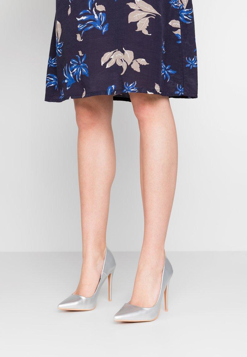 Glamorous - High heels - silver high shine