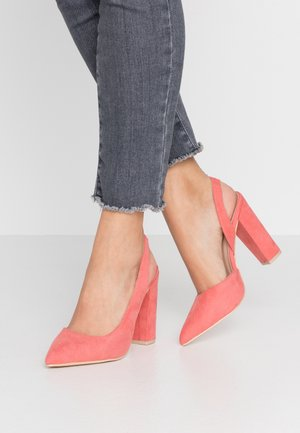 Zapatos altos - coral