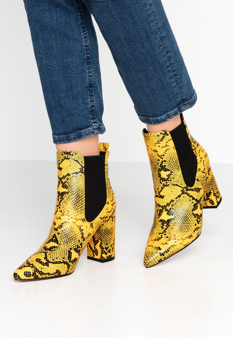 Glamorous - High heeled ankle boots - yellow