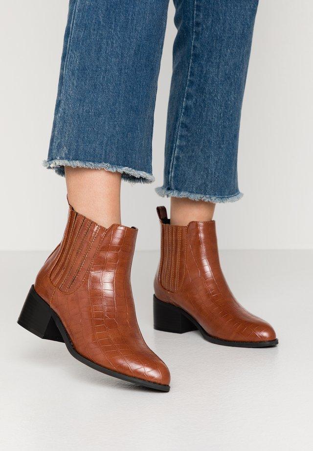 Boots à talons - tan