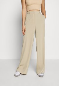 Glamorous - WIDE LEG TROUSERS WITH POCKETS - Bukse - stone - 0