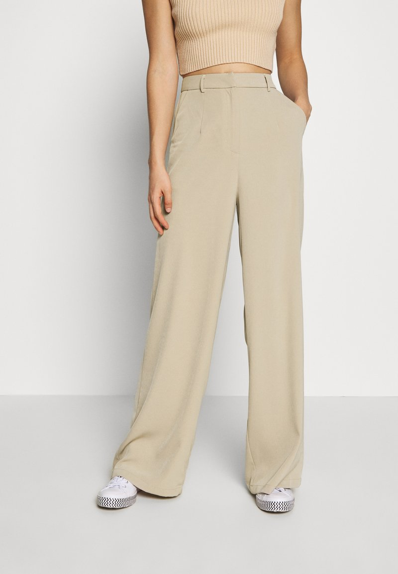 Glamorous - WIDE LEG TROUSERS WITH POCKETS - Bukse - stone