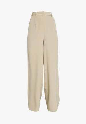 WIDE LEG TROUSERS WITH POCKETS - Bukse - stone