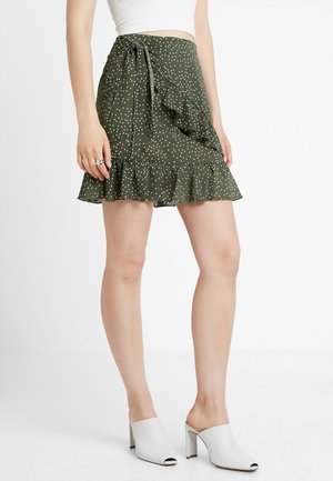 A-line skirt - dark green