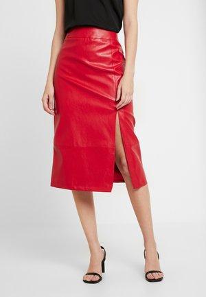 SKIRT - Pencil skirt - red