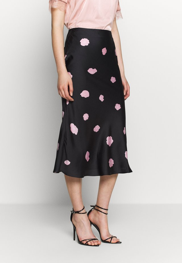 CARE MIDI SKIRT - Áčková sukně - black