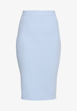 MIDI SKIRT - Falda de tubo - light blue