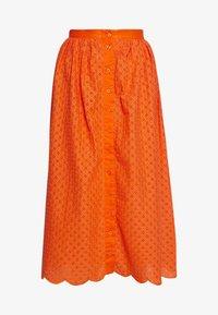 Glamorous - BRODERIE ANGLAIS MIDI SKIRT - A-line skirt - bright orange - 3