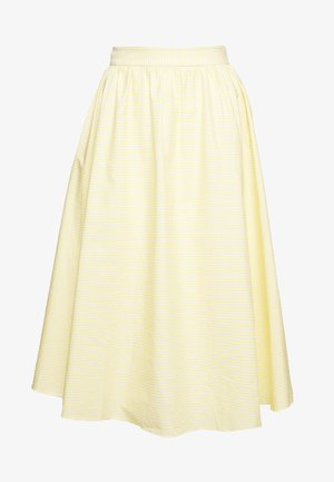 STRIPE MIDI SKIRT - A-Linien-Rock - yellow