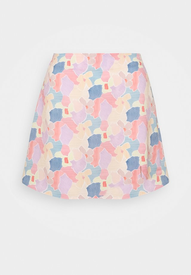 CARE FLORAL PRINTED MINI SKIRT - A-snit nederdel/ A-formede nederdele - light pink