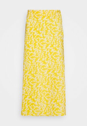 CARE FLORAL PRINTED MIDI SKIRT - A-line skirt - yellow