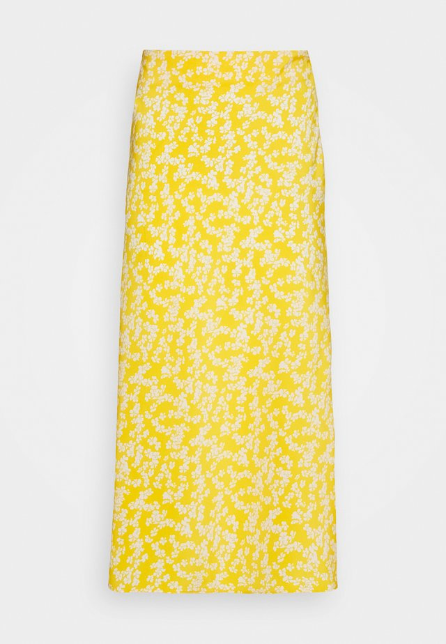 CARE FLORAL PRINTED MIDI SKIRT - A-snit nederdel/ A-formede nederdele - yellow
