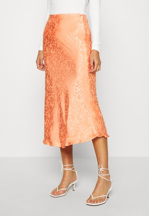 PALOMA MIDI SKIRT - Gonna a campana - orange