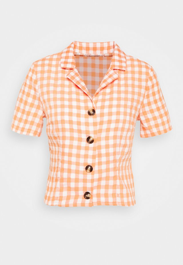 PALOMA GINGHAM  - Button-down blouse - orange
