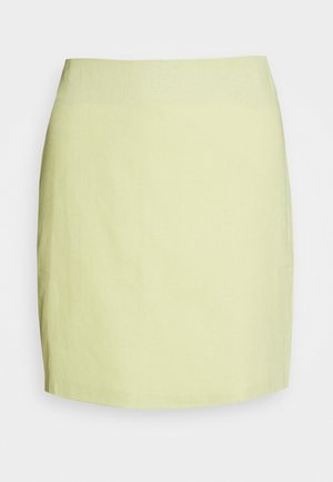 HIGH WAISTED MINI SKIRT - Spódnica mini - lemon
