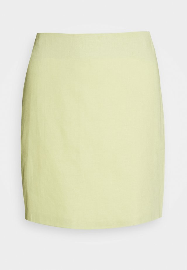 HIGH WAISTED MINI SKIRT - Mini skirts  - lemon