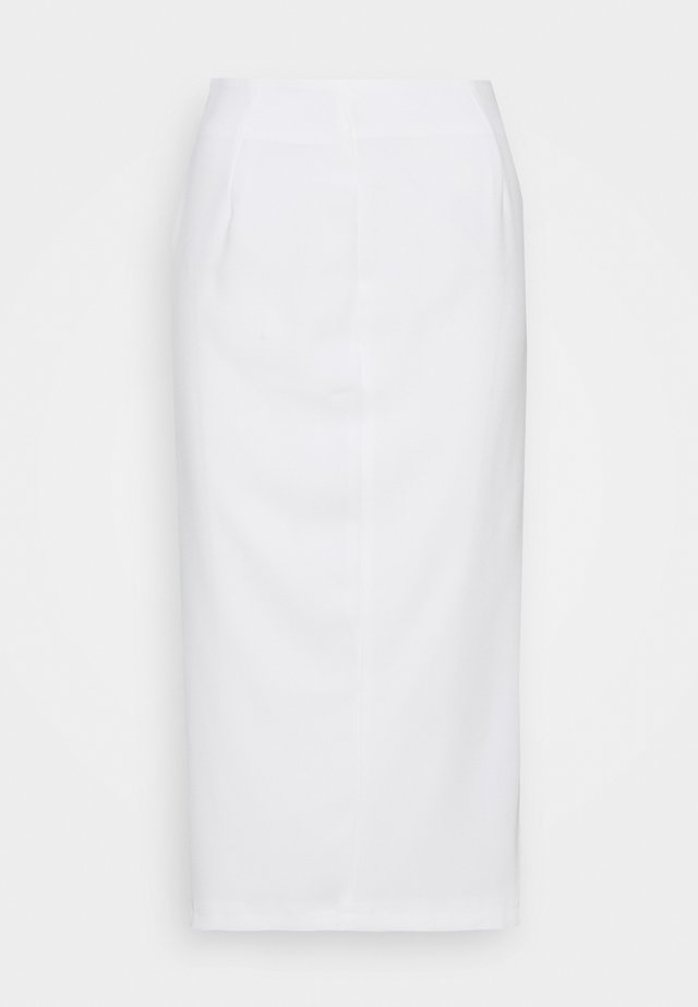 MIDI SKIRT - Blyantnederdel / pencil skirts - white