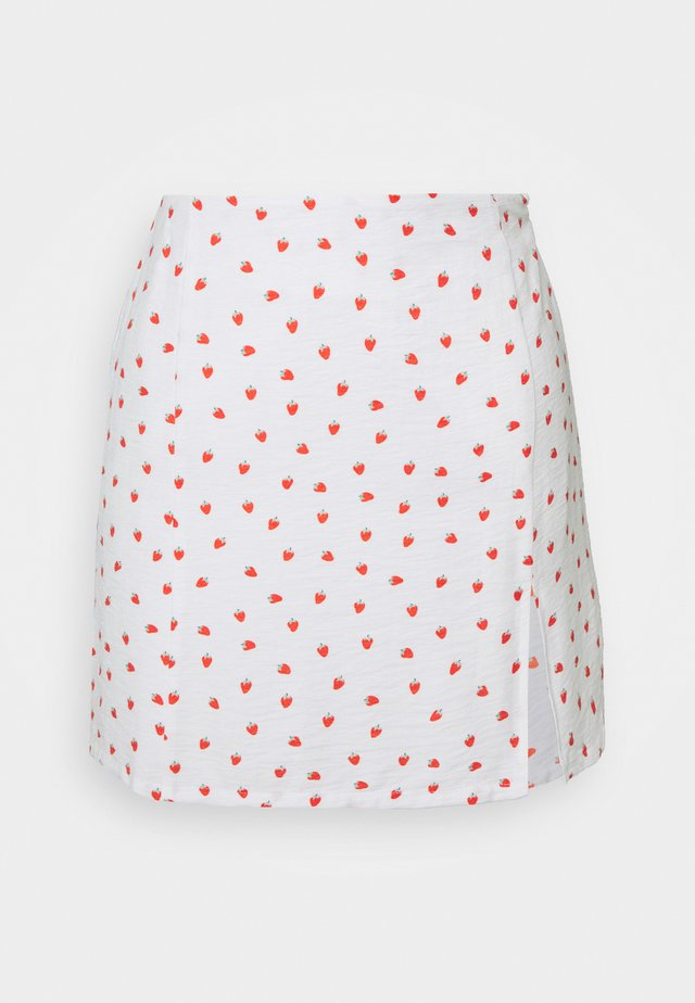 STRAWBERRY SKIRT - Minisukně - white