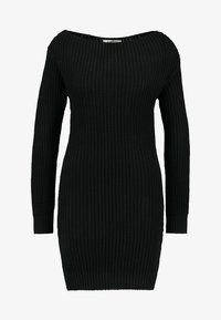 Glamorous - Pletené šaty - black - 3