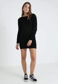 Glamorous - Pletené šaty - black - 1