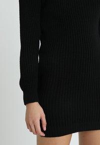 Glamorous - Pletené šaty - black - 4
