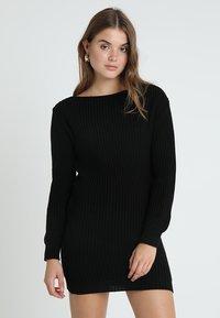 Glamorous - Pletené šaty - black - 0