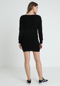 Glamorous - Pletené šaty - black - 2