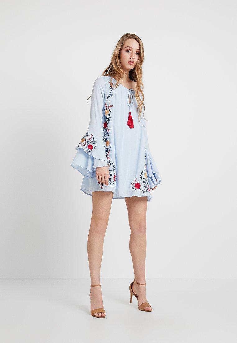Glamorous - CHECK IN - Day dress - light blue