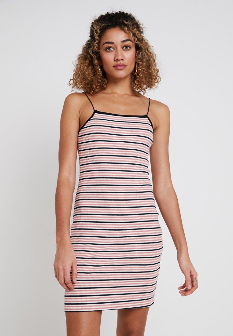 Glamorous - Jersey dress - pink/white/black