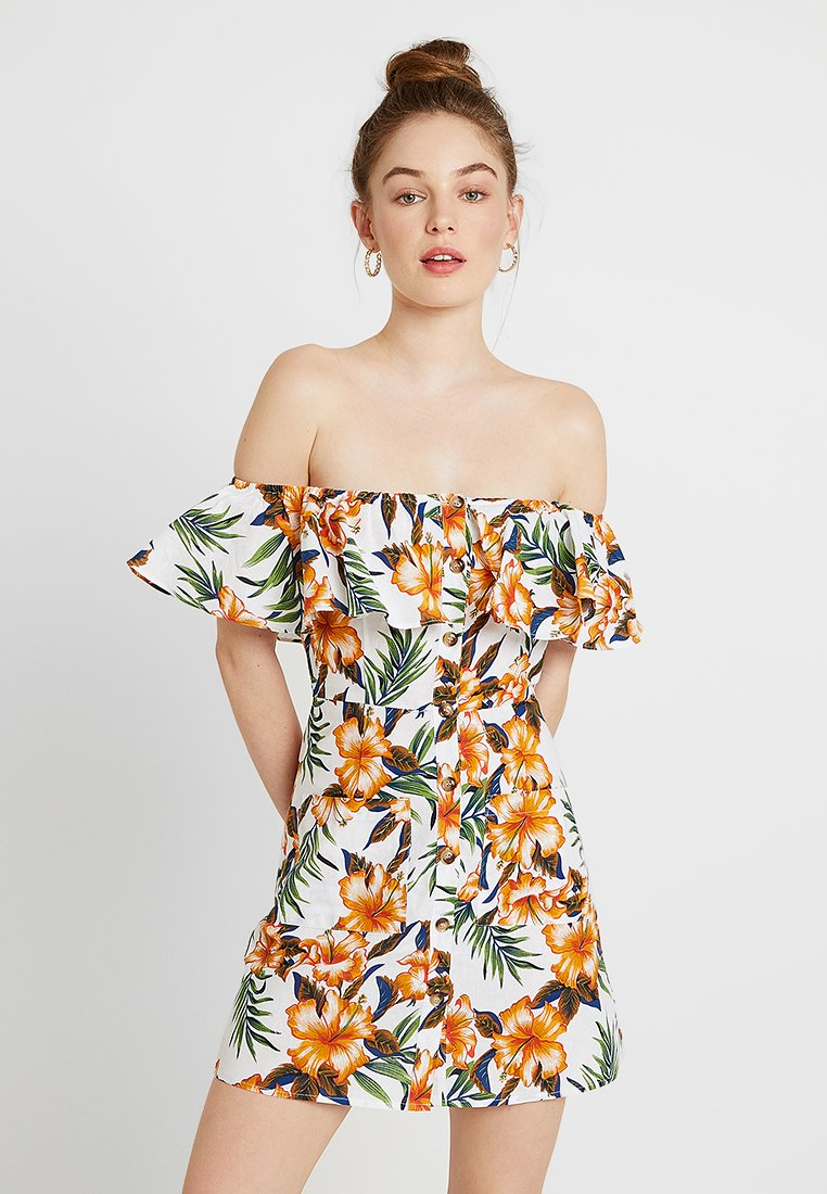 Glamorous - EXCLSUIVE SUMMER CAPSULE - Blusenkleid - cream orange