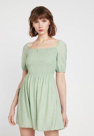 Korte jurk - sage green