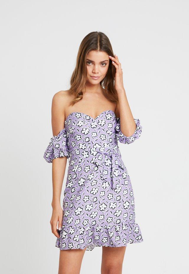 Korte jurk - lilac