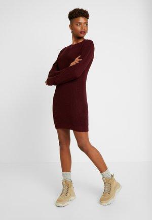 Jumper dress - burgundy