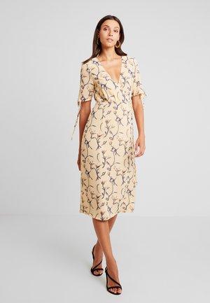 Denní šaty - ochre/grey
