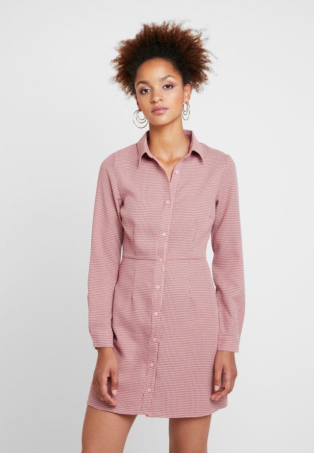 Denní šaty - pink brown