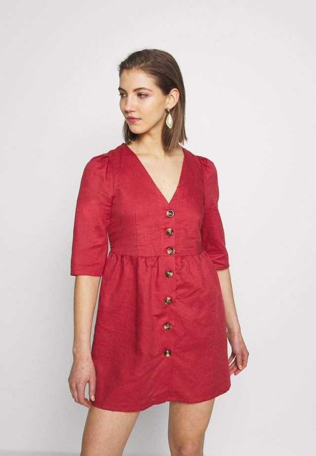 Shirt dress - faded red