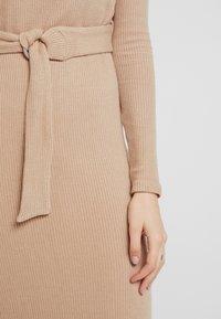Glamorous - LONG SLEEVE BELTED DRESS - Jersey dress - camel - 5