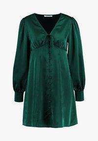 Glamorous - BLACK FRIDAY LONG SLEEVE DEEP V NECK DRESS - Denní šaty - dark green - 4