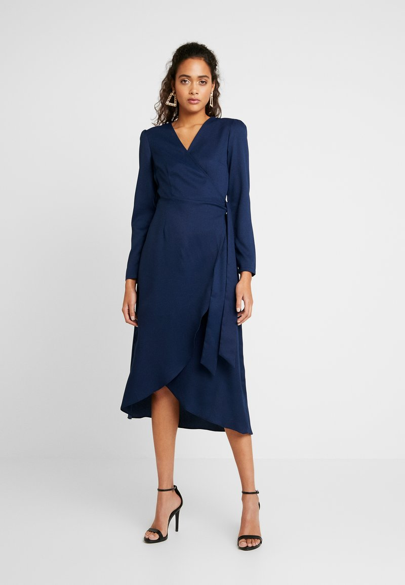 Glamorous - FRIDAY LONG SLEEVE WRAP DRESS - Sukienka letnia - navy