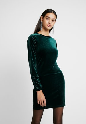 Day dress - forest green velvet