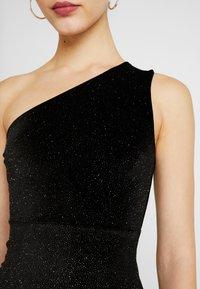 Glamorous - ONE SHOULDER GLITTER DRESS - Cocktailkjole - black - 5