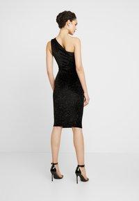 Glamorous - ONE SHOULDER GLITTER DRESS - Cocktailkjole - black - 2