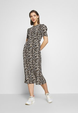 SHORT SLEEVE MIDI DRESS - Kjole - black