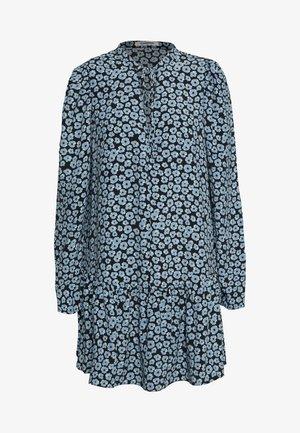 MINI V NECK TIER FLORAL DRESS - Kjole - dusty blue mini