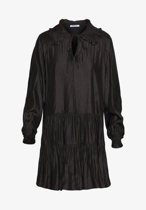 MINI V NECK TIERDRESS - Vestido informal - black